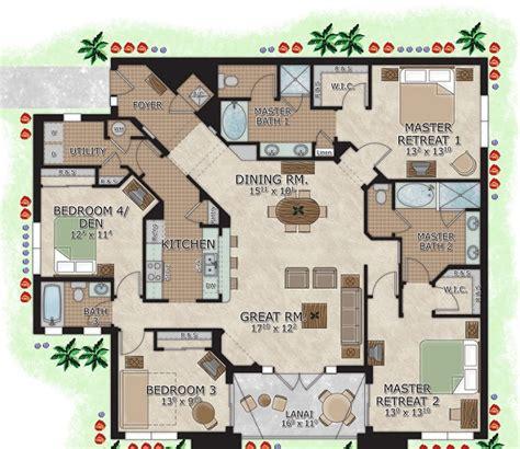 Kitchen Dining Room Floor Plans 4 bedroom suites in orlando rooms lighthouse key resort