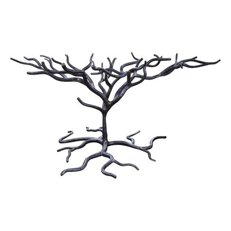 wrought iron trees wrought iron tree table base this could hold a rectangle