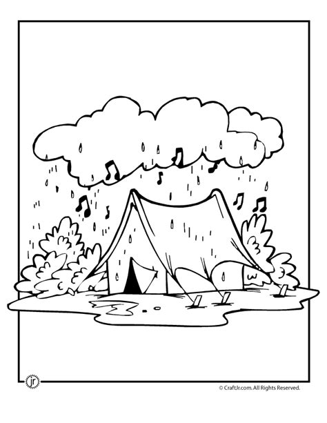 rainy day camping coloring page woo jr kids activities