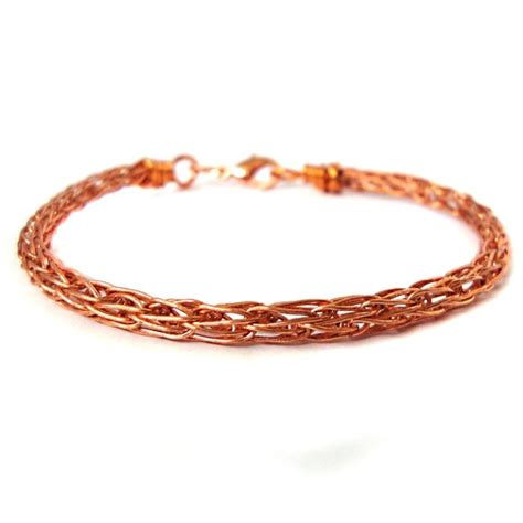 viking knit bracelet copper viking knit bracelet 24 etsy marketplace