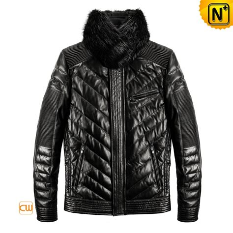 cool leather jackets for cool men s leather jacket 2012 slim leather jackets beaver fur collar black cw861991