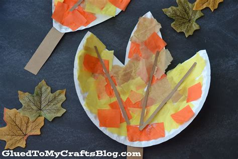 paper leaves craft paper plate leaf kid craft