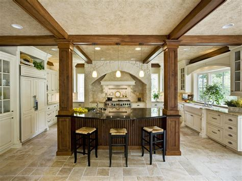 kitchen island with columns fantastic kitchen island designs