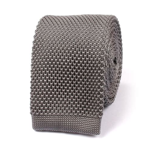 knit necktie grey knitted tie knit ties knits necktie neckties otaa