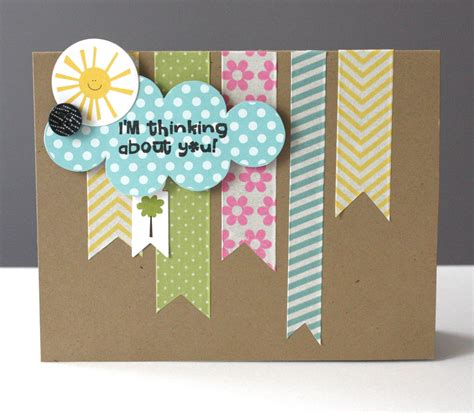 card idea ideas for washi cards by