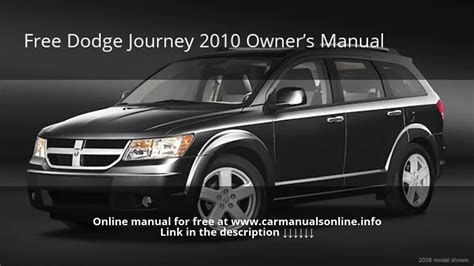old car repair manuals 2010 dodge journey auto manual 2010 dodge journey owners manual youtube