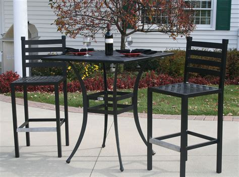 patio furniture bar height set ansley luxury 2 person all welded cast aluminum patio