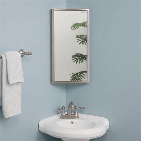 corner mirror for bathroom kugler stainless steel corner medicine cabinet bathroom