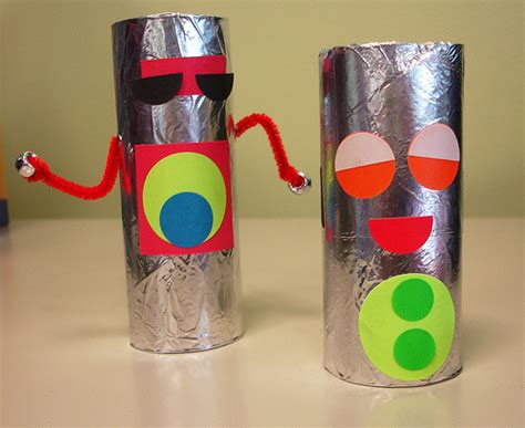 robot crafts for robot craft this week we made robots toilet paper rolls