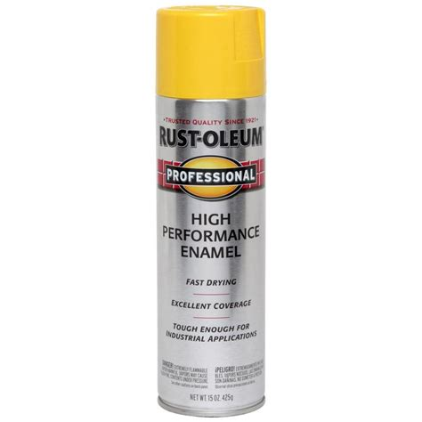 spray paint yellow shop rust oleum 15 oz safety yellow gloss spray paint at