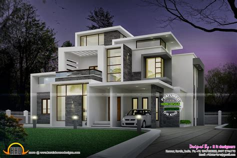 modern house plan grand contemporary home design kerala home design and floor plans