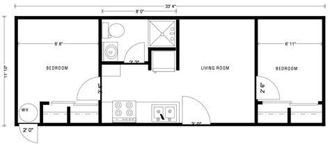 1 Bedroom Modular Homes Floor Plans portable employee housing small family home little