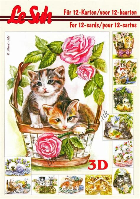 die cut decoupage books cats a5 3d decoupage book by le suh