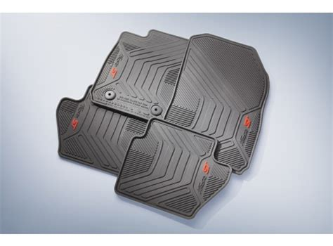 Floor Mats All Weather Thermoplastic 4 Black For