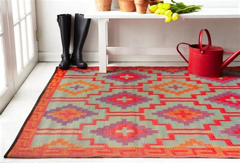outdoor rugs made from recycled plastic lhasa orange and violet indoor and outdoor plastic