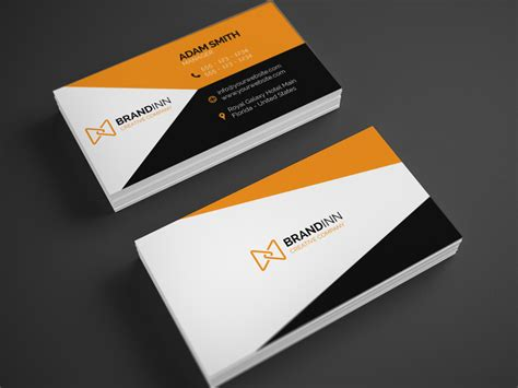 creative cards creative orange business card 23 graphic
