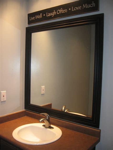 black bathroom mirror black framed mirror for bathroom decofurnish