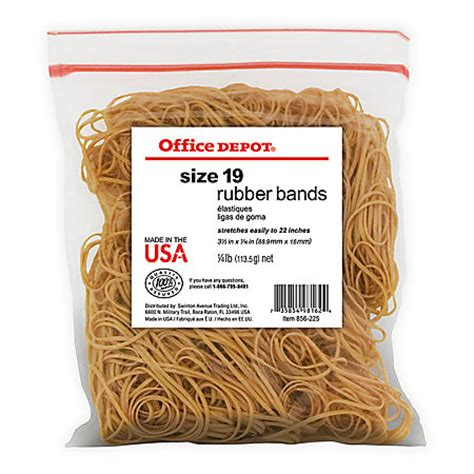 office depot rubber st office depot brand rubber bands 19 3 12 x 116 14 lb bag