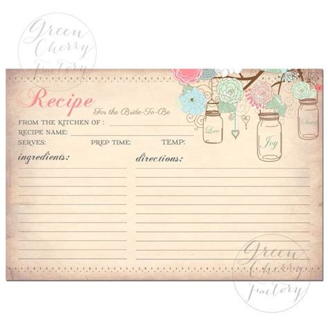 how to make a recipe card 25 unique printable recipe cards ideas on