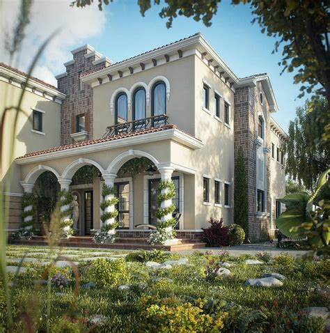 italian villa style homes dreamy spaces rendered by muhammad taher