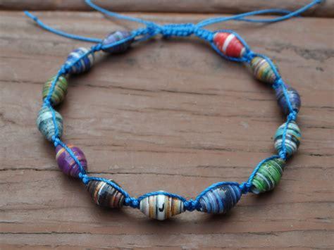 paper bead bracelets paper bead macrame bracelet by seaturtle2112 on deviantart