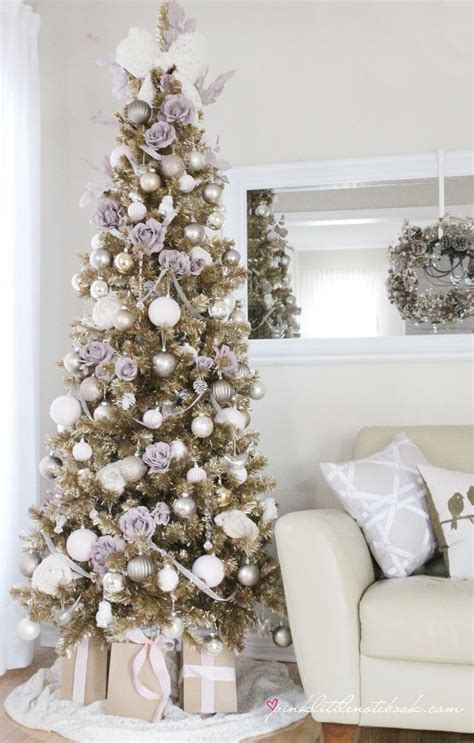 colour in decorations barn chagne tree by pink