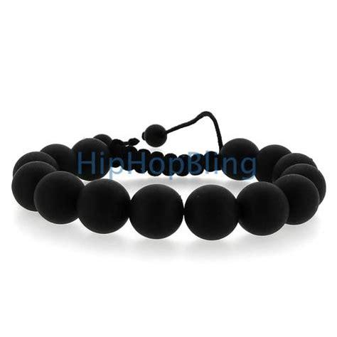 black bead matte black disco bracelet disco