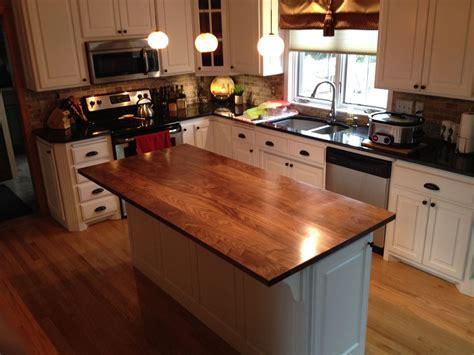 custom built kitchen island crafted solid walnut kitchen island top by custom furnishings workshop llc custommade