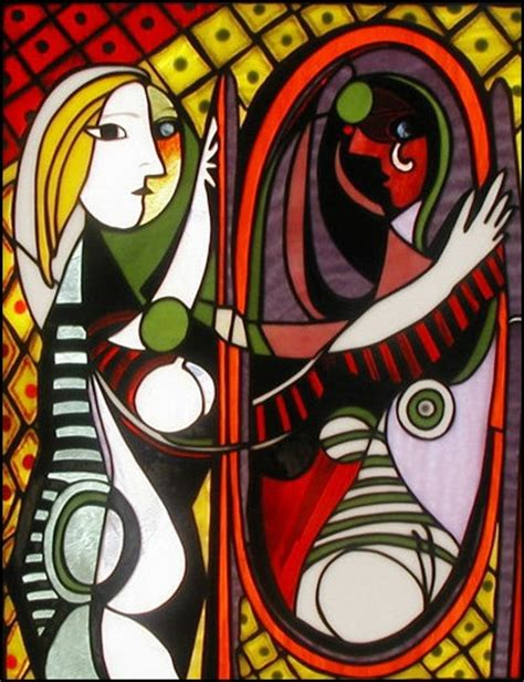 picasso glass paintings stained glass