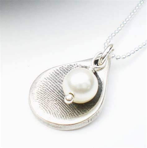 how to make thumbprint jewelry silver fingerprint necklace silver fingerprint jewelry