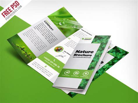 templates free nature tri fold brochure template free psd psdfreebies