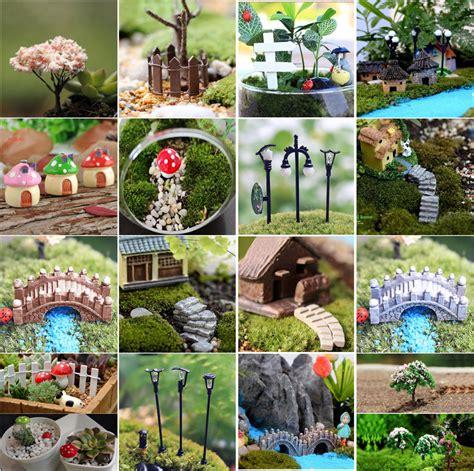 Garden Ornaments And Accessories Galleries Mini Craft Figurine Plant Pot Garden Ornament Miniature