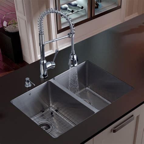 modern undermount kitchen sinks vigo platinum equal undermount stainless steel