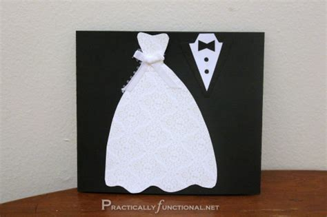 how to make wedding cards diy wedding card dress tux trifold printable