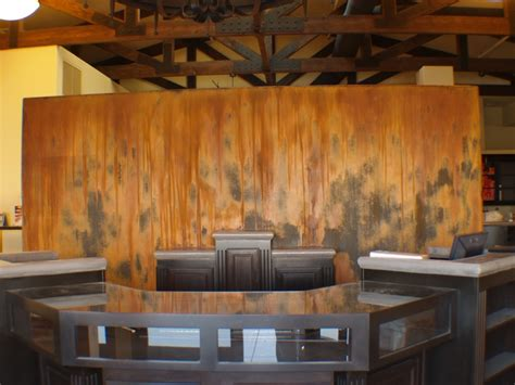 paint with a twist el paso rust wall for twist studio spa in paso robles ca modern