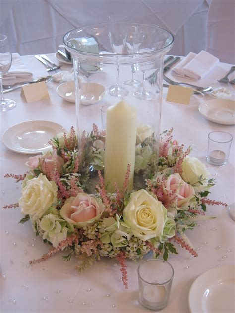 hurricane vase centerpieces hurricane vase with floral surround candle standing in