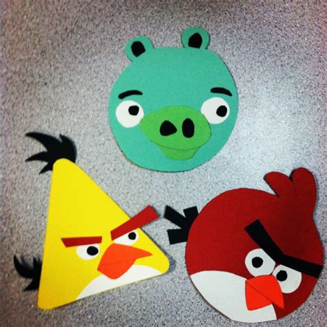 arts and craft with construction paper angry birds construction paper arts