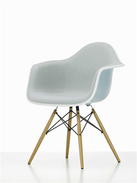 Eames Style Plastic Chair by Eames Plastic Arm Chair Daw Chair Fully Upholstered Vitra