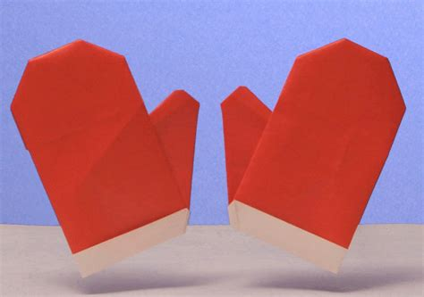 how to make origami gloves puppet box origami winter