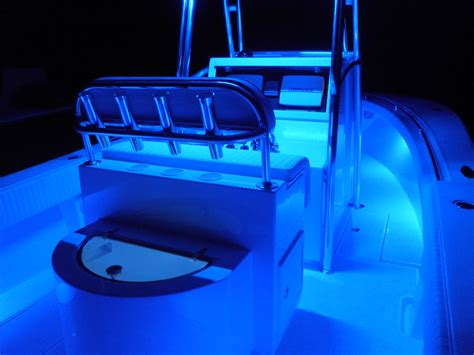 led light strips for boats seamaster lights mounted gunwale on center console