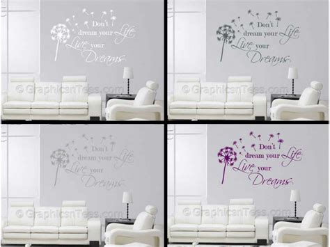 Stickers For Walls Quotes don t dream your life live your dreams wall art mural