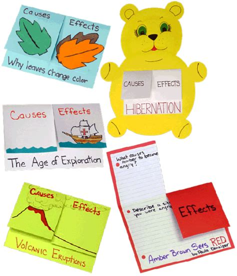 picture books for cause and effect foldables used to organize information and retain it for