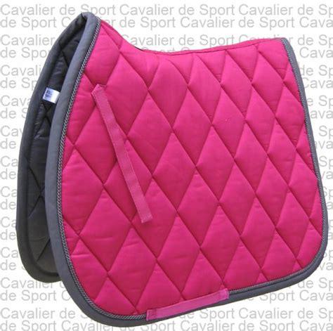 tapis de selle br event bright pink fuchsia taille mixte sellerie cavalier de sport