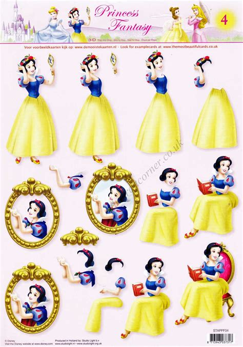 disney decoupage snow white disney princess 3d decoupage sheet