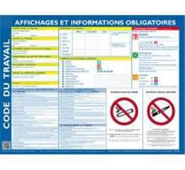 code du travail affichage obligatoire direct signal 233 tique