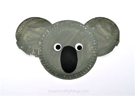 plate craft paper plate koala kid craft i crafty things