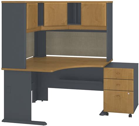 cherry corner desk with hutch series a collection 48 w x 48 d corner desk with hutch
