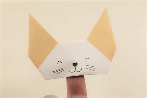 origami puppets origami finger puppet tutorial