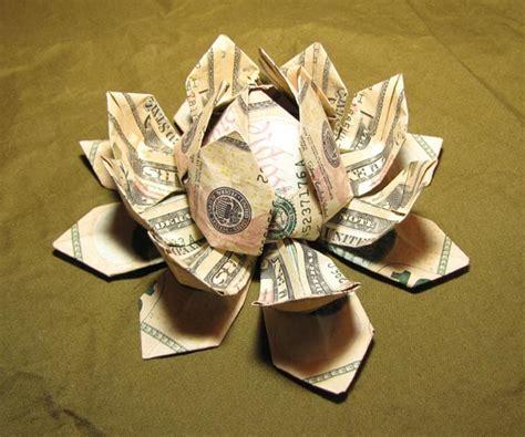 money flower origami money origami lotus flower