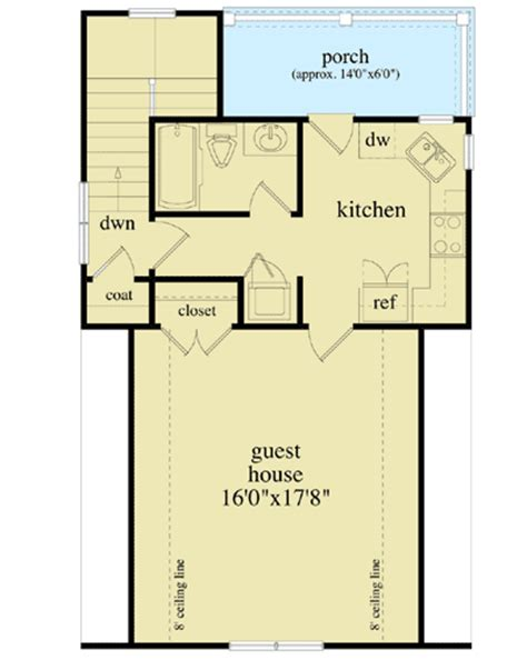 detached guest house plans detached guest house plan 29852rl 2nd floor master